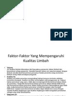 parameter kualitas limbah