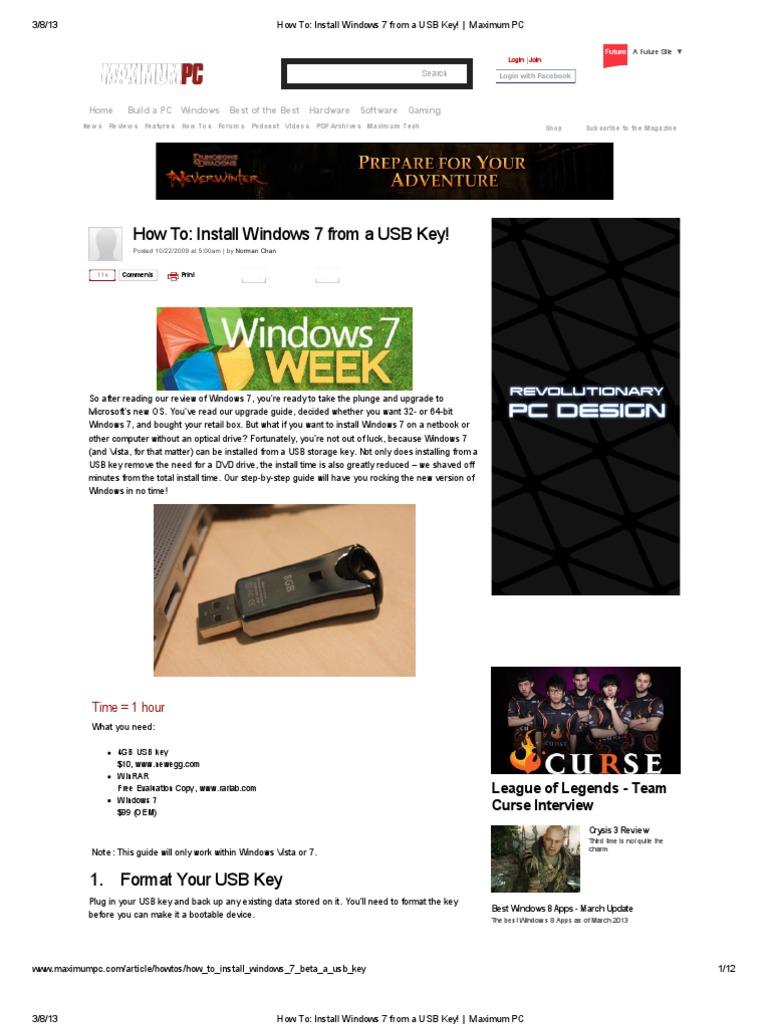 How To_ Install Windows 7 From a USB Key! _ Maximum PC