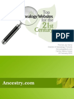 Top Genealogy Websites for Research Fhexpo 2013
