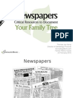 Genealogy Research With Newspaper Records Fhexpo
