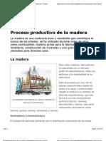 Proceso Productivo de La Madera | Procesos Productivos | Icarito