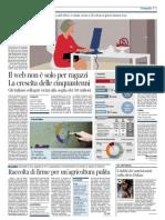 Il Corriere Della Sera - Il web non è solo per ragazzi