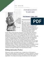 Information Warfare by Prof. George J Stein
