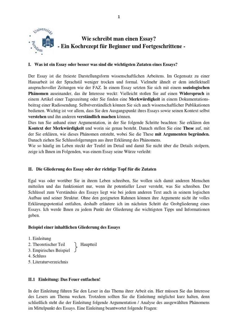 Großartig Essay Vorlage Gliederung Galerie - Beispielzusammenfassung ...