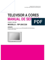 MANUAL DE SERVIÇO TV LG RP-29CC26