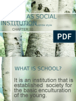 School as Social Institution