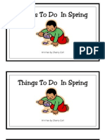 Things to Do in Spring Emergent Reader