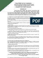 Notification UPSC Civil Services Exam 2013