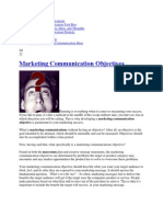 Marketing Communications Objectives