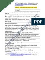 JP Morgan Sample Technical Placement Paper