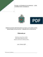 Modelo de Proyecto Unan Nicaragua 2007