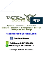 CATALOGO GENERAL ELEMENTOS DE RESCATE - MARZO 2013  TACTICAL BOOTS.pdf