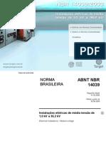 Instalações Elétricas - NBR 14039(2005) - Instalações Elétricas De Média Tensão De 1,0 kV A 36,2 kV - Comentada