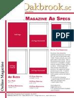 Specs for Oakbrook Magazine