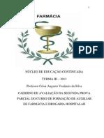 farmácia revisão 08032013CADERNO DE EXERCÍCIOS II