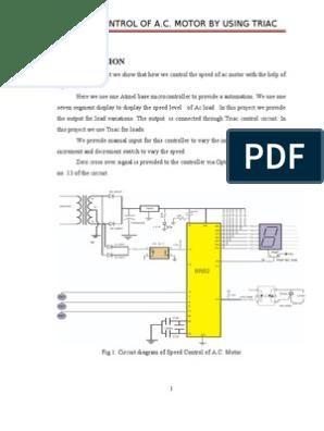 Speed Control of Ac Motor Using Triac   Light Emitting Diode