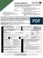 D.C. voter registration form