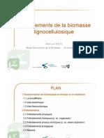 Prétraitements de la biomasse lignocellulosique
