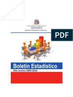 Educacion dominicana_Boletín_Estadístico 2009-2010