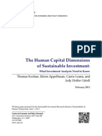 The Human Capital Dimensions of Sustainable Investment