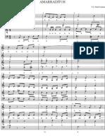 Amarraditos (SATB)(Cerdeira) - Perez