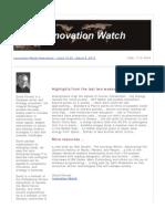 Innovation Watch Newsletter 12.05 - March 9, 2013