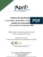 Analyse Questionnaire Associations Informatique Et Logiciels Libres