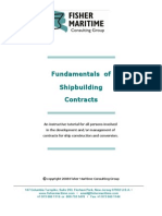 Fundamentals of Shipbuilding Contracts