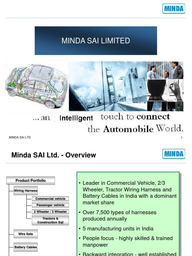 Mindasai Presentation Manufactured Goods Technology Wiring Harness Manufacturers India