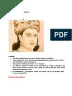 Byte size note on Maurya Empire