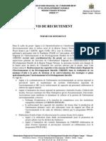Avis de Recrutement Tdr Coordonnateur Oredd_projet Aecid
