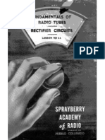 Lesson ND-11, Fundamentals of Radio Tubes - Rectifier Circuits