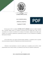 Sentencia de la Sala Constitucional del Tribunal Supremo de Justicia que fija la interpretación vinculante del artículo 233 de la Constitución de la República Bolivariana de Venezuela