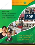 Policy on Local Government Transformaton and Modernisation