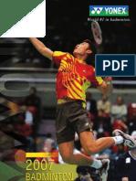 Yonex Badminton Catalog 2007