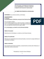 Ciencia.Ciencias sociales, Sociología docx