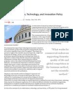 Godin, B. Lane, J. P.  (2012) Is America's Science, Technology, and Innova