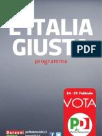 PD - Programma Politico Elettorale 2013
