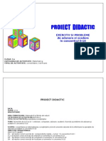 Proiect Didactic Exercitii Si Probleme de Adunare Si Scadere in Concernul 1-10