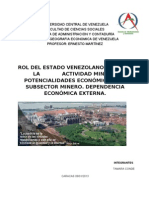 Rol Del Estado en La Mineria. TrabajoExposicion.[1]