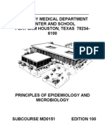 US Army Medical Principles Epidemiology Microbiology