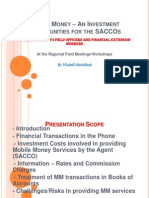 Mobile Money - Investment Opportunities for SACCOs