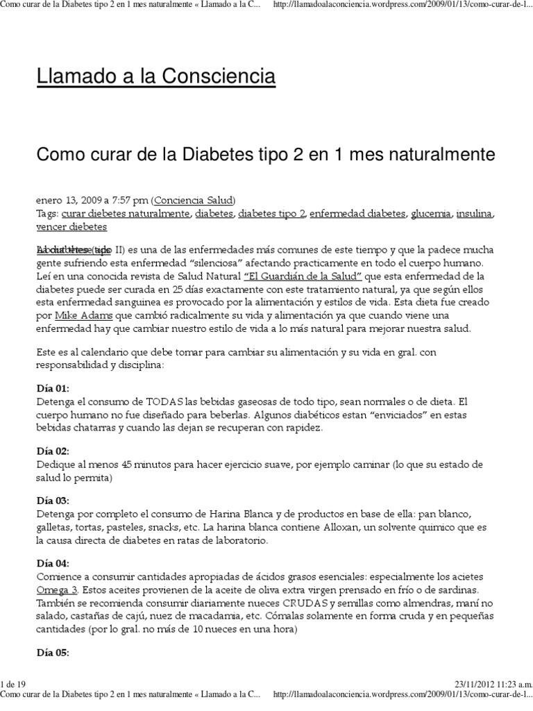 cura de la diabetes para el tipo 2
