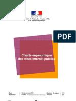 Charte ergonomique d'un site internet. Rédigé par le gouvernement français et mis à dispositon des collectivités locales