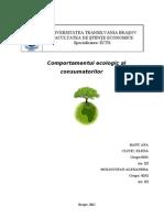 Comportamentul Ecologic Al Consumatorilor