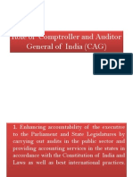 Role of Comptroller and Auditor General of India