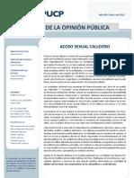 Boletín Acoso Sexual Callejero - IOP Marzo 2013 OK