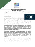 Reforma Municipal Asociacion Chilena de Municipalidades