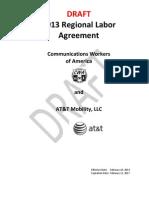 "CWA AT&T Mobility ""Orange"" - 2013 Regional Labor Agreement"