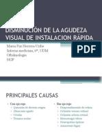 DISMINUCIÓN DE LA AGUDEZA VISUAL DE INSTALACION RÁPIDA